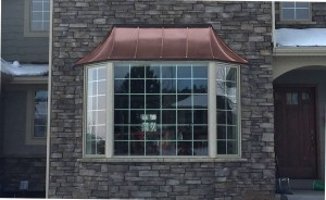 Bay Windows copper roof